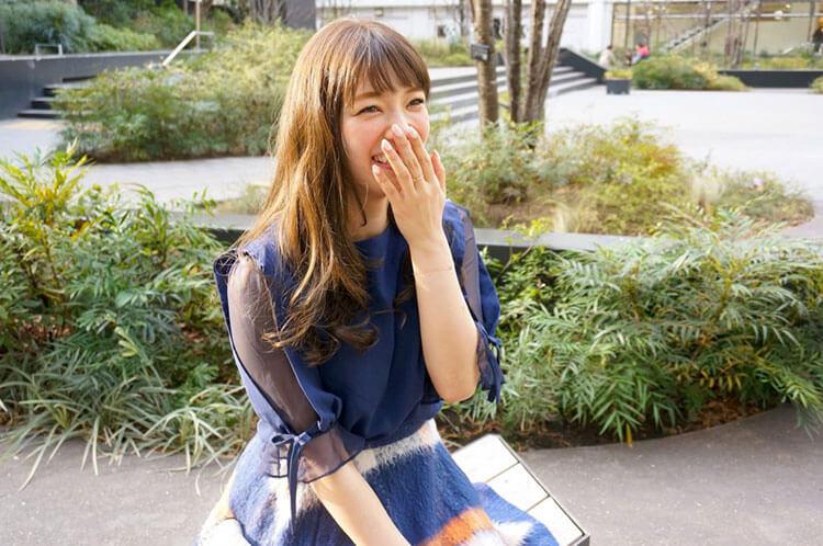インタビュー後の沙恵子さん
