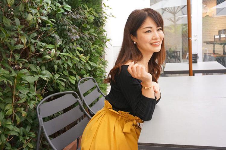 インタビュー後の晴奈さん